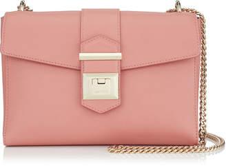 Jimmy Choo MARIANNE SHOULDER BAG/S Rosewood Grainy Calf Leather Shoulder Bag