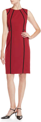 Sharagano Havana Contoured Sheath Dress