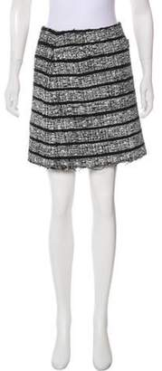Marc Jacobs Painted Tweed Skirt Black Painted Tweed Skirt