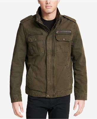 Levi's Men Cotton Zip-Front Jacket