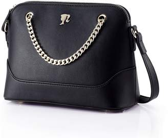 Barbie Sweet Series Women's Leather Gold Tone Metal Chain Bowler Small Shoulder Bags BBFB481.01A
