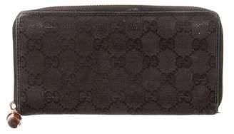 Gucci GG Canvas Anita Bamboo Long Wallet