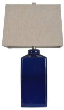 Decor Therapy Blue Ceramic Table Lamp