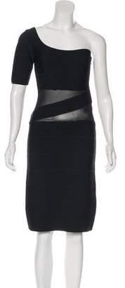 Herve Leger Asymmetrical Bandage Dress