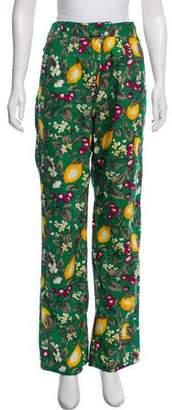 BA&SH Printed High-Rise Pants w/ Tags