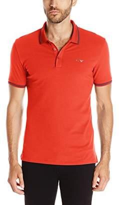 Armani Jeans Men's Tipped Short Sleeve Polo Shirt XXL