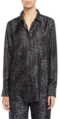 Equipment Essential Leopard Burnout Shirt