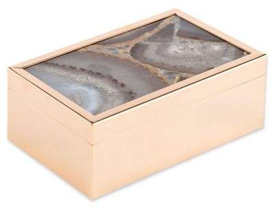 Zuo® Agate Pattern Small Box in White