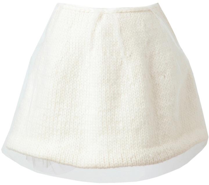 Simone Rocha Layered wool and tulle miniskirt