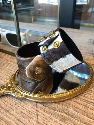Norton Co. And Hodges Zebra Signature Cuff With Fired Brass Snaps