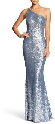 Dress the Population Bella One-Shoulder Mermaid Gown