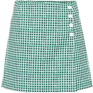 Tory Sport High-rise checked shorts