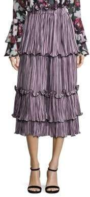 Romance Was Born Queen of the Night Blossoming Pleated Skirt