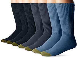 Gold Toe Men's Cushioned Cotton Crew 7-Pack