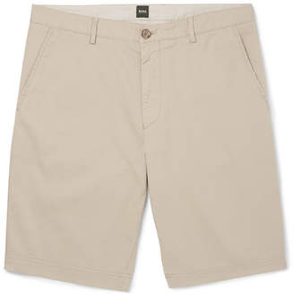 HUGO BOSS Crigan Stretch-Cotton Twill Shorts - Men - Sand