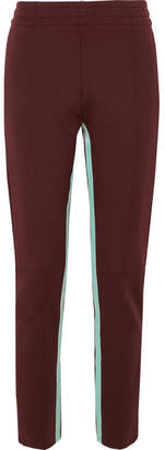 Joseph Striped Stretch-jersey Track Pants - Burgundy
