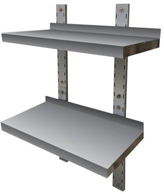 Sportsman Series Stainless Steel Double Wall Mount Shelf