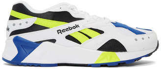 Reebok Classics White and Yellow Aztrek Sneakers