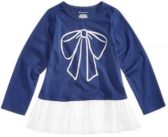 First Impressions Baby Girls Peplum Bow Tunic, Created for Macy's
