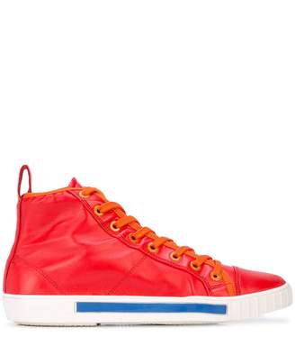Carven lace up hi-top sneakers