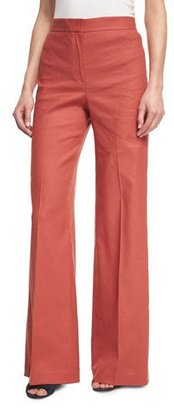 Theory Terena High-Waist Wide-Leg Pants, Red $295 thestylecure.com