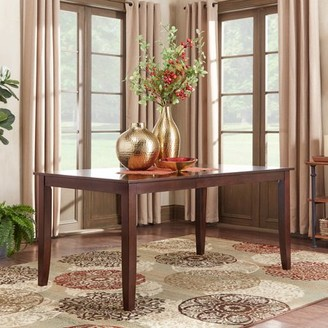 "Weston Home Abram 66"" Dining Table, Parson Table Leg"