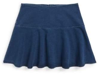 Splendid Knit Ruffle Miniskirt