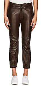 Nili Lotan Women's Leather French Military Pants - Brown