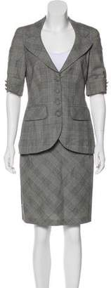 Rena Lange Virgin Wool Skirt Suit
