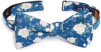 The Tie Bar Hodgkiss Flowers Linen Bow Tie