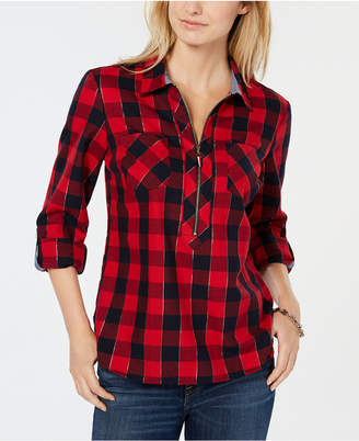 Tommy Hilfiger Plaid Popover Shirt