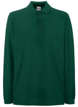 Fruit of the Loom Mens FOTL Premium Long Sleeve Polo T Shirt