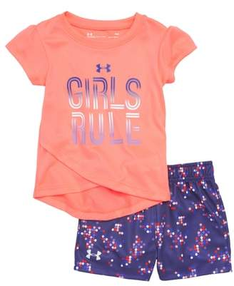 Under Armour Girls Rule Tee & Shorts Set