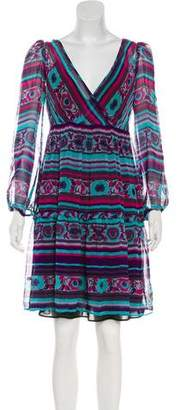 ALICE by Temperley Silk Abstract Print Mini Dress