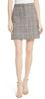 Theory Glen Plaid Miniskirt