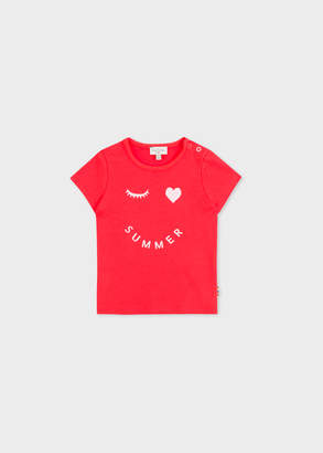 Paul Smith Baby Girls' Red 'Summer' Print T-Shirt