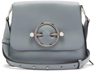J.W.Anderson Disc Small Leather Cross Body Bag - Womens - Light Blue