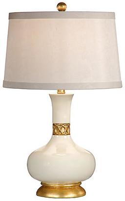 Gardenia Mimi Table Lamp White/Gold - Wildwood