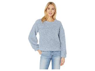 Vince Camuto Long Sleeve Popcorn Eyelash Mock Neck Top