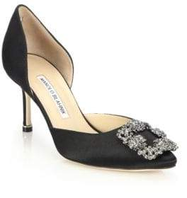 caffb716275f ... denmark at saks fifth avenue manolo blahnik hangisido 70 satin dorsay  pumps 001eb 05d63