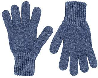 Drakes Drake's Men's Contrast-Cuff Lambswool Gloves