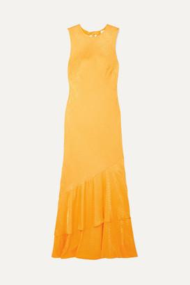 Rebecca Vallance Isobella Satin-jacquard Maxi Dress - Orange