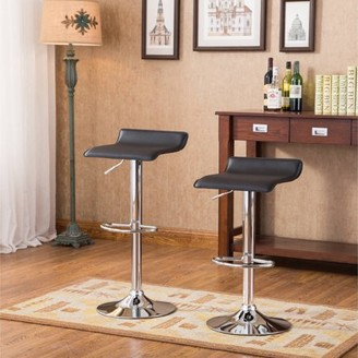 Roundhill Furniture Roundhill Contemporary Chrome Air Lift Adjustable Swivel Stools, Set of 2, Multiple Colors Available