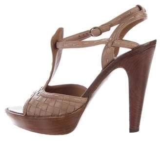 Bottega Veneta Intercciato Leather Sandals