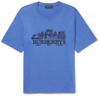 Burberry Embroidered Cotton-Jersey T-Shirt
