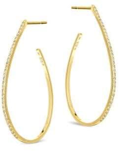 Lana Flawless Small Diamond& 14K Yellow Gold Teardrop Hoop Earrings