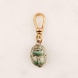 Lulu Frost Vintage Egyptian Revival Glass Scarab Charm