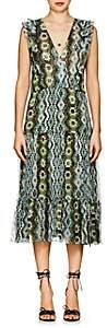 Altuzarra Women's Jorma Geometric-Print Silk Midi-Dress - Pine