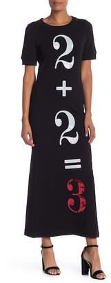 Love Moschino Sequined Short Sleeve Dress