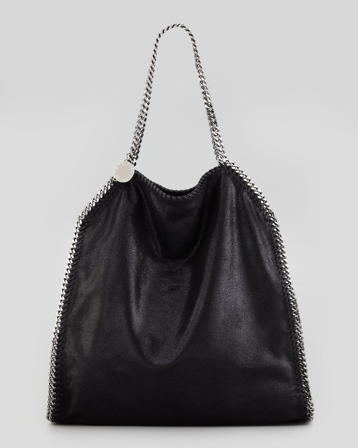 Stella McCartney Falabella Large Tote Bag, Black